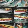 京阪特急ダブルデッカ:模型4・嵯峨野鉄道図書館線を疾走するダブルデッカ