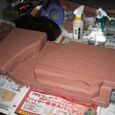 嵯峨野鉄道図書館4-1-3:中央台地の下塗り