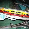 京阪特急ダブルデッカ:模型2・車体8807の連結前後