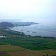 八幡城からみた琵琶湖