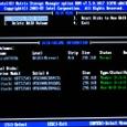 BIOS設定:(*)CTRL+Iによる、RAID設定