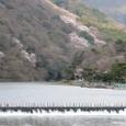 嵐山桜2008Sony096:葛野堰堤と嵐山