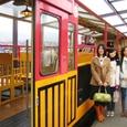 6・トロッコ亀岡駅で記念写真