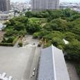 長浜城から東の眼下:長浜駅方向