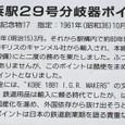 長鉄博04:旧長浜駅29号分岐器ポイント部