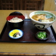 天ぷら蕎麦とかやくご飯