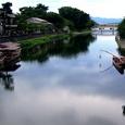 昼の鵜飼い船(宇治川)