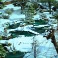 雪の日本庭園