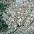 長岡京の全域に該当する航空写真