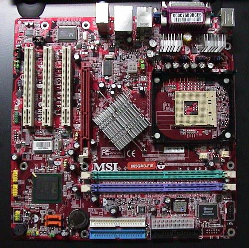 865GM3-FIS(MSI MicroATXマザーボード)  葛野研 2004.06.21 こ