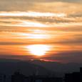 東山の朝焼け