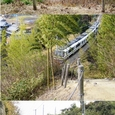Ψ古墳を横断するJR奈良線
