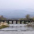 三条大橋と北山遠望