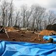 桜井茶臼山:後円部墳頂西側の発掘調査現場