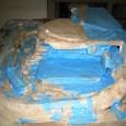 石膏14:石膏塗り完了(北向き)