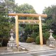 新しい鳥居:木嶋神社南から