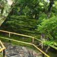 銀閣10裏庭(東山)展望所への階段