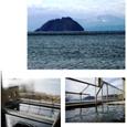露天風呂と竹生島(ちくぶしま)