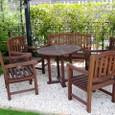 葛野・空中庭園:パーゴラ下の椅子