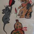 木幡研の大津絵:猫と鼠と瓢箪