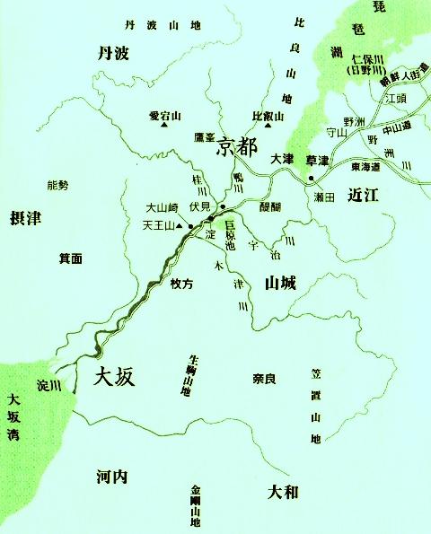 宝暦十一年(1761:江戸時代中期)ころの京都・大阪