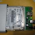 100GBの2.5インチハードディスク(富士通)