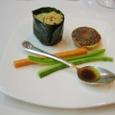 (1) チーズ・ミートパイと手巻き寿司