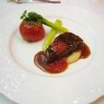 (3) ビーフ・フィレ網焼きとトマト・ロースト