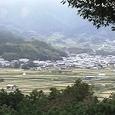 伝・飛鳥板蓋宮跡:甘樫丘展望台から東南を撮す