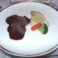 C:洋風牛肉野菜チラシ皿